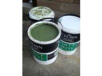 15L green paint + 4 rolls masking tape