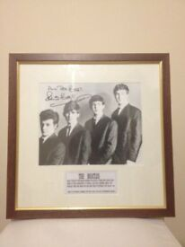 The BEATLES Signed by oringinal Drummer Pete Best.