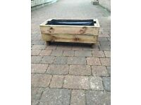 Planters & Benches made from reclaimed decking boards