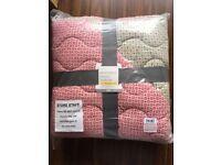 Brand New NEXT throw bedspread quilt blanket printed geo floral 165 x 215 cm