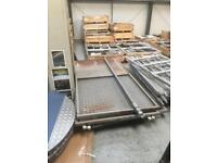 Metal sliding door and partition wall system very heavy duty tall