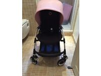 Bugaboo bee 3 with soft pink hood and bee3 cocoon