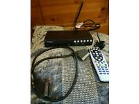 Goodmans freeview box with remote and scart lead