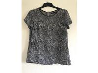 Black and white top - size 10.