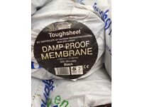 Tough sheet Damp Proof Membrane, Polythene, 300 Microns, 4 x 25 Mtr, Heavy Duty