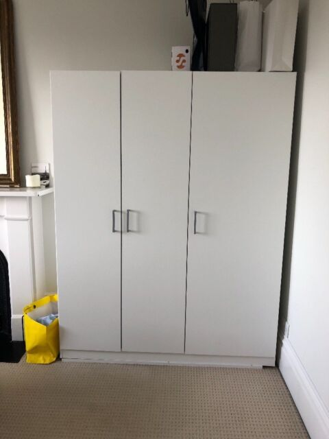 Urgent Selling 2 Ikea Dombas White Wardrobe 140x181 For 20 Each Instead Of 60 In Fulham London Gumtree