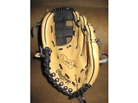 Derek Jeter Autographed Rawlings Baseball 9 Inch Glove