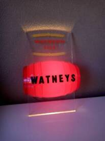 Vintage 1960's era Plastic Watneys Ales Red Barrel - Keg Advertising Bar Display Light