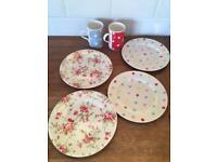 Cath Kidston plates and mug set