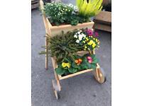 Wooden Mobile Flower Pot Terrace