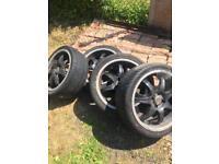 5x100. 4 stud alloy wheel