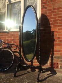 Black free standing mirror