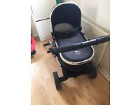 Icandy peach 2 Pram with carry cot main seat and lower seat plus extras