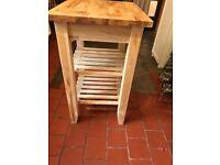 Birch wood IKEA kitchen tidy/trolley