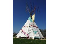 Tepee canvas 14ft excellent for festivals parties £400 great fun for all occassions view it