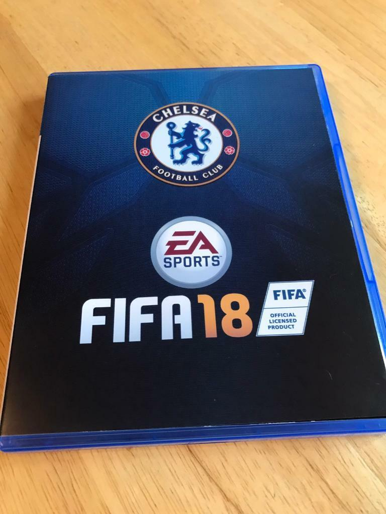 FIFA 18 with official Ea Chelsea football club cover for ps4