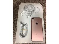 iPhone 7 rose gold 128gb unlocked