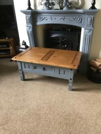 Coffee Table Painted in French Chic Greyhound