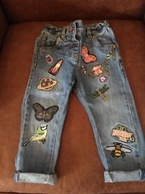 Next pretty patched jeans