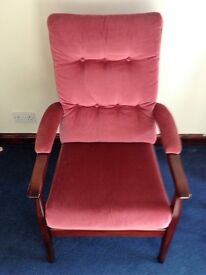 ROSE PINK DRAYLON EASY CHAIR