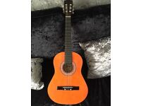 Childs Lauren 25N 'Natural Wood' Guitar and soft Case
