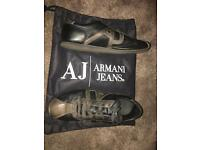 Armani Jeans Trainers size 10.5 uk used