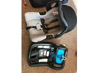 Graco carseat with Isofix base.