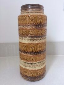 Collectable Vintage 1960s Geometric Tall Floor Vase 289-41 Made In West Germany