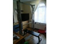 smith machine weight bench as new