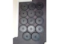"12 x 10kg Cast Iron Weight Plates Standard Size 1"" Hole £20 a pair (bench, press, squat, Rack)"