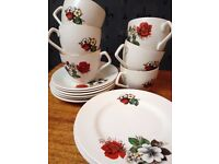 Vintage cups, saucers and side plates #3