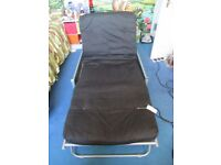 Metal frame bed chair futon