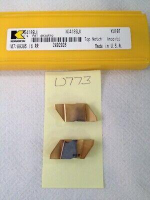4 New Kennametal Ng 4189lk Top Notch Grooving Carbide Inserts. Gr Ku10t U773