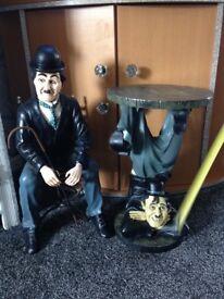 Charlie Chaplin figures x2