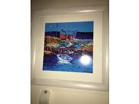 Gorgeous John Lowrie Morrison - JoLoMo Signed Framed Print of The Broken Gate Isle of Gigha