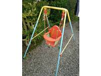 Toddlers outdoor swing.