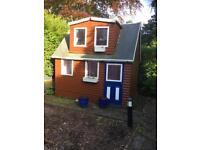 Wooden garden play house
