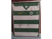 Celtic Shirt Framed Signed Scott McDonald+ Barry Robson