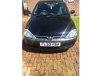 1.0 Black Vauxhall Corsa