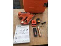 Paslode im350 90ct gas nail gun working with battery charger and case