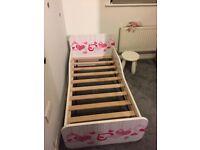 Girls Toddler Bed and Mattress