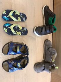 Boys 4 Pair Shoe Bundle Boden Geox and Joules Size 27
