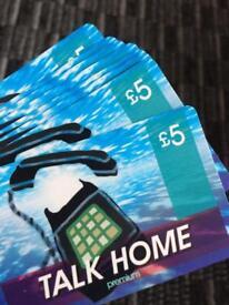 Talk home 5£ card