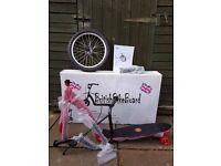 "British Bike Board - 16"" Wheel Scooter - Red"
