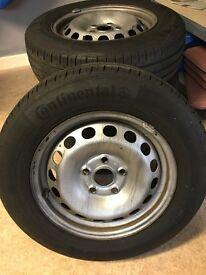 2007 Caddy Maxi wheels - continental 195/65 R15