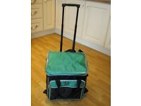Large collapsable cool bag on wheels with pull handle - nearly new condition