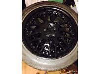 Bbs alloy wheels 17inch in black mk4 golf , bora, passat, subaru pcd 5 x 100 quick sale