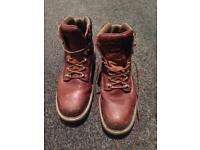 Steel toe boots - industrial use, great condition, leather