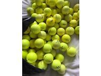 100 mixed yellow golf balls
