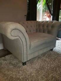 Chesterfiled snuggle chair